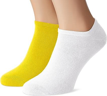 2-Pack Trainer Socks, Sunshine/White