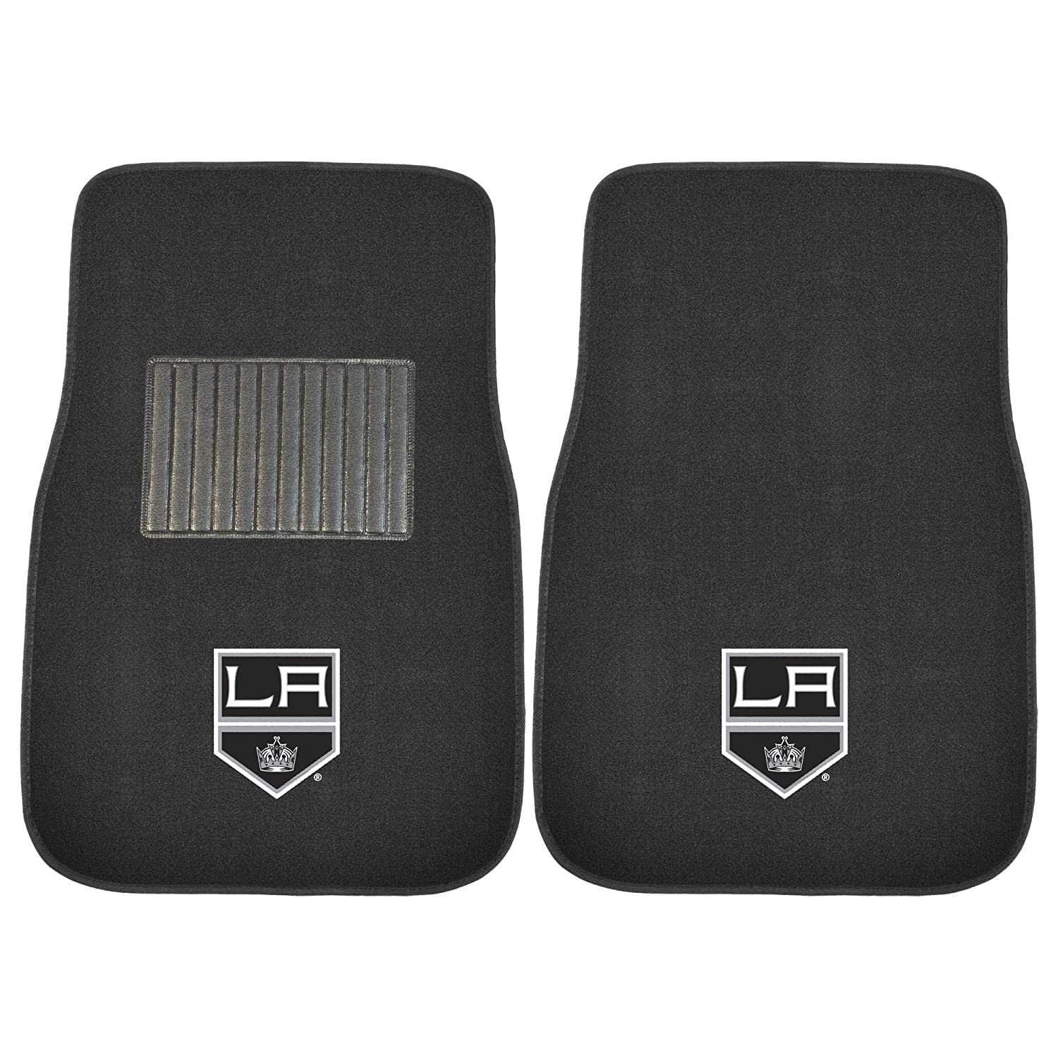 FANMATS 17166 NHL Los Angeles Kings 2-Piece Embroidered Car Mat Set