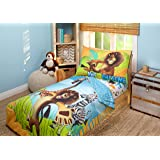 Disney DreamWorks Animation Madagascar Behold My Mane 4 Piece Toddler Bedding Set, Toddler