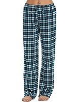 Ekouaer Pajama Pants Womens Soft Flannel Plaid Sleep Bottoms With Elastic Waist S-XXL