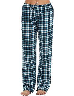08b6364ce2 Ekouaer Pajama Pants Women s Soft Flannel Plaid Lounge Pants with Elastic  Waist S-XXL