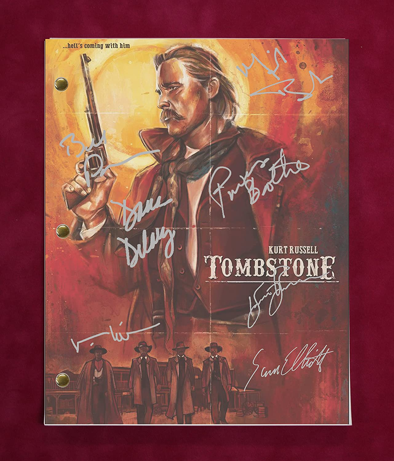 Tombstone Script w/Reproduction Signature Kilmer and Russell C3