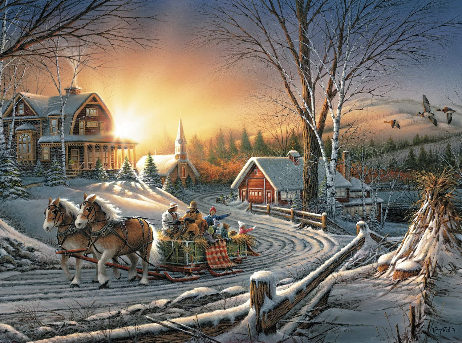 Buffalo Games - Terry Redlin - The Pleasures of Winter - 1000 Piece Jigsaw Puzzle