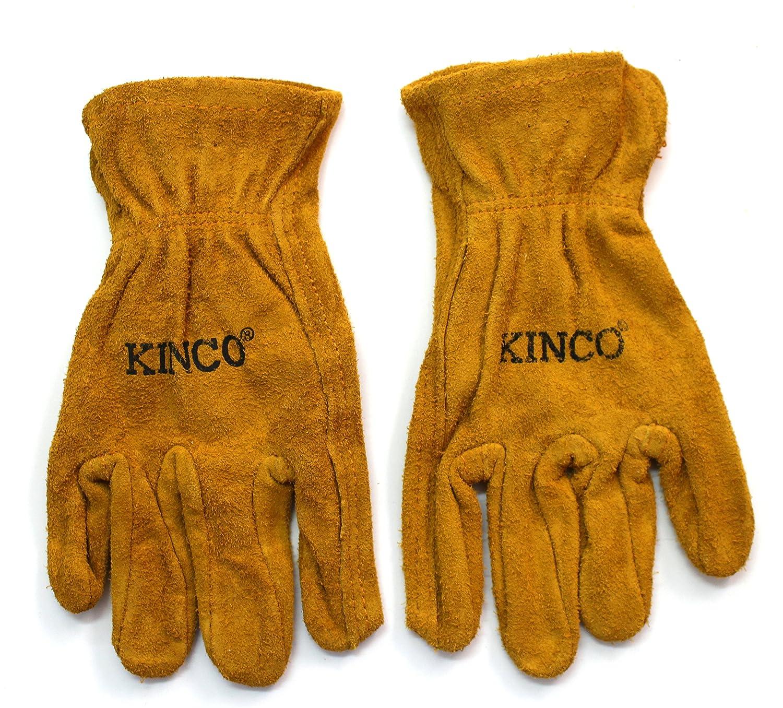 Kinco 50-Y Work Gloves, Garden Gloves for Kids (Pack of 2) Ages 7-12 ...