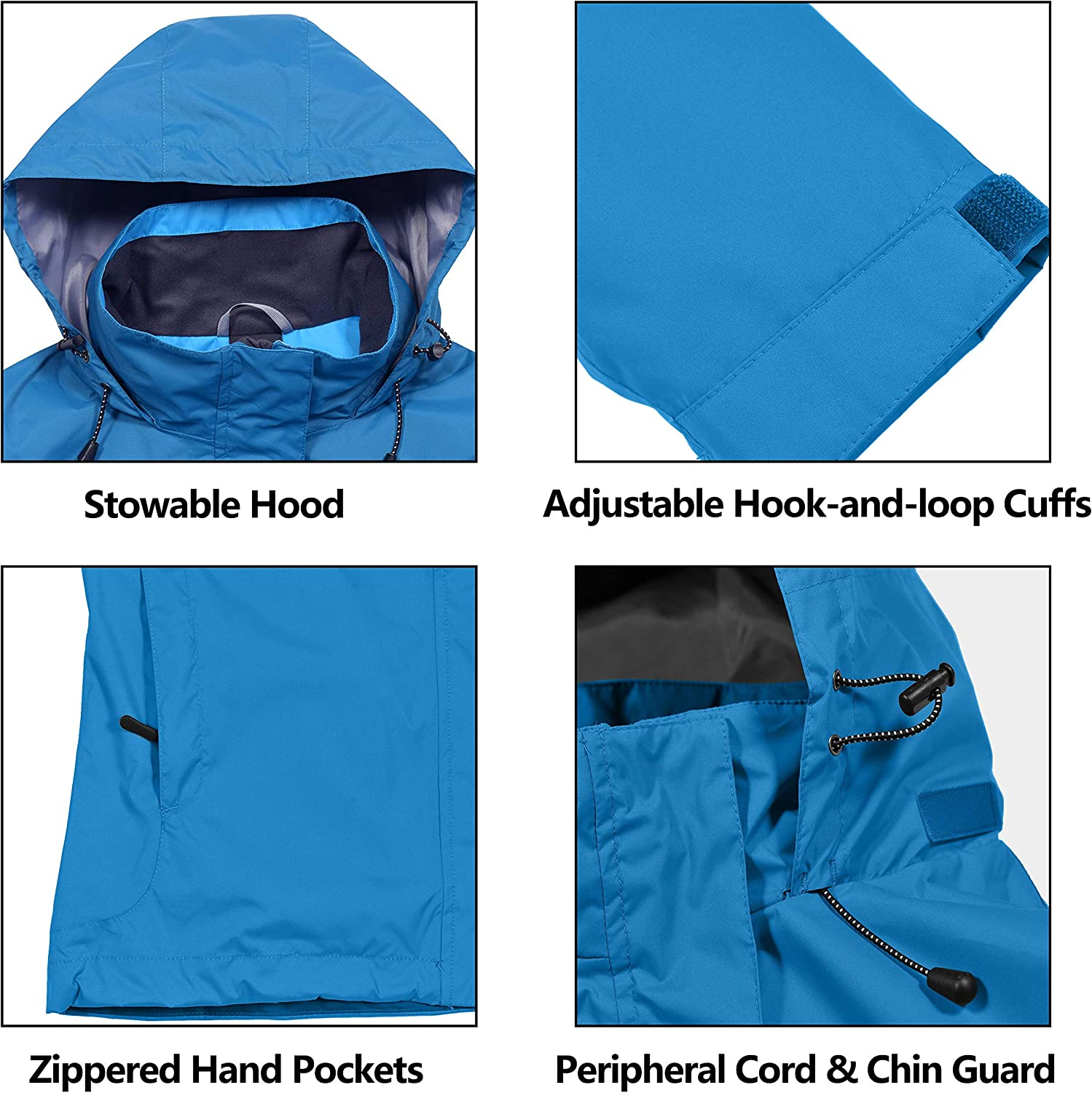 Travel Skiing Little Donkey Andy Mens Waterproof Breathable Jacket Outdoor Shell Rain Coat for Hiking
