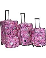 Rockland Luggage 4 Piece Printed Luggage Set