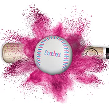 amazon com gender reveal baseball with 20 gender voting stickers