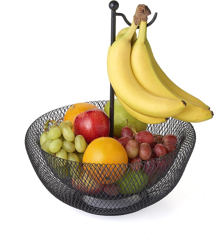 NIFTY 7640FB-BLK Banana Hook Mesh Fruit Bowl Black 1 Size