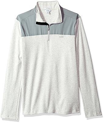 4f8625aa5f73 Calvin Klein Men s Long Sleeve Jacquard 1 4 Zip Knit at Amazon Men s  Clothing store
