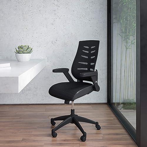 EMMA OLIVER High Back Black Mesh Swivel Ergonomic Office Chair