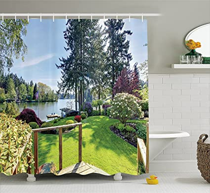 Amazon Com Farm House Decor Shower Curtain Sunny Spring Season Day