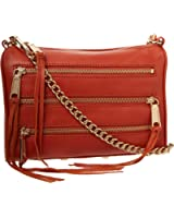 Rebecca Minkoff Mini 5-Zip Convertible Cross-Body Handbag