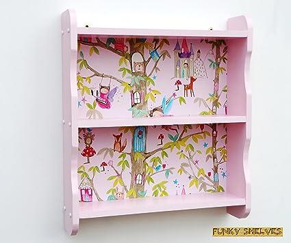 Rosa Hada de hadas de madera estantería estantería estantería ...