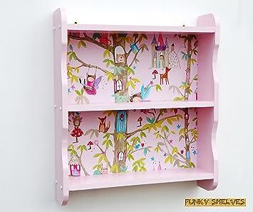 Girls Pink Fairy Bedroom Shelves Bookcase Book Shelf Shelving Unit ...