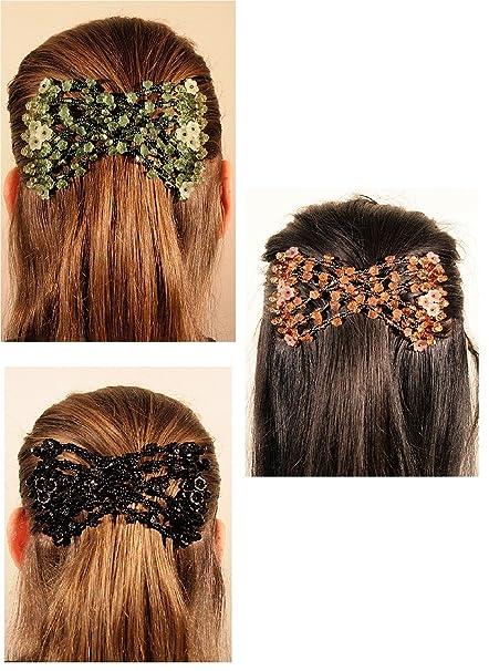 codice promozionale a83be 274be donne Magic fermacapelli elastico EZ doppio pettine diversi stili di  capelli (3 clip per £ 14.00)