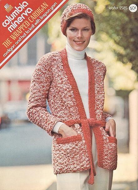 Amazon Vintage Knitting Pattern Leaflet Wrap Cardigan And Hat
