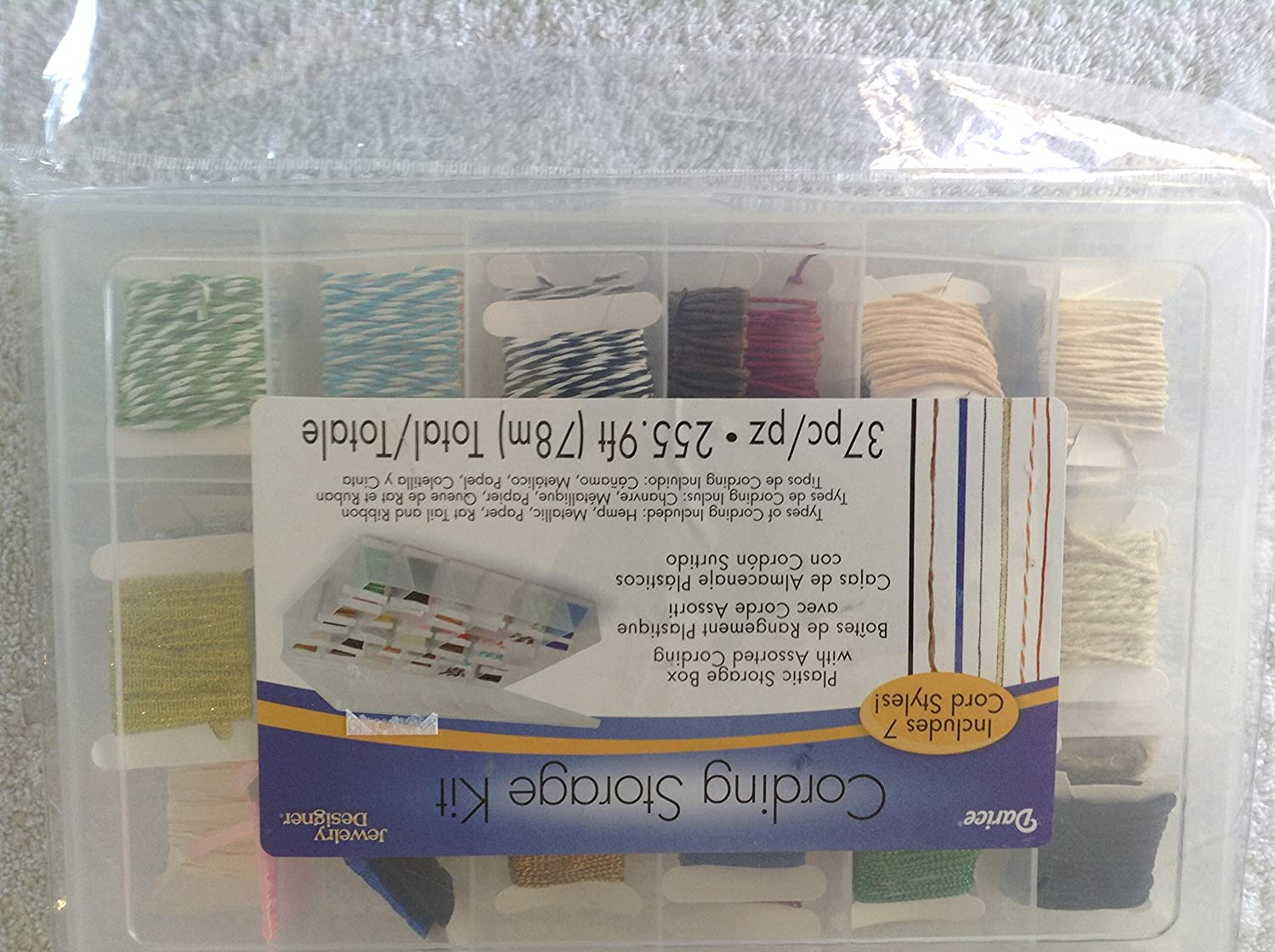 Amazon.com: Darice Jewelry Designer Cording Storage Kit with Assorted Cording