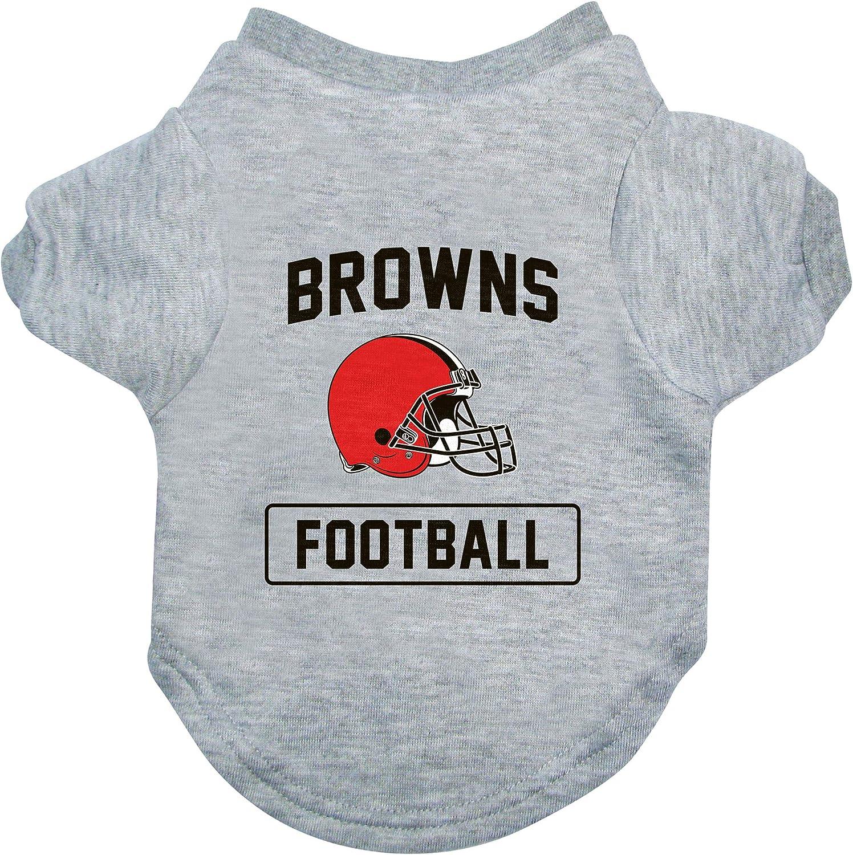 Littlearth NFL Cleveland Browns Pet T-Shirt Large