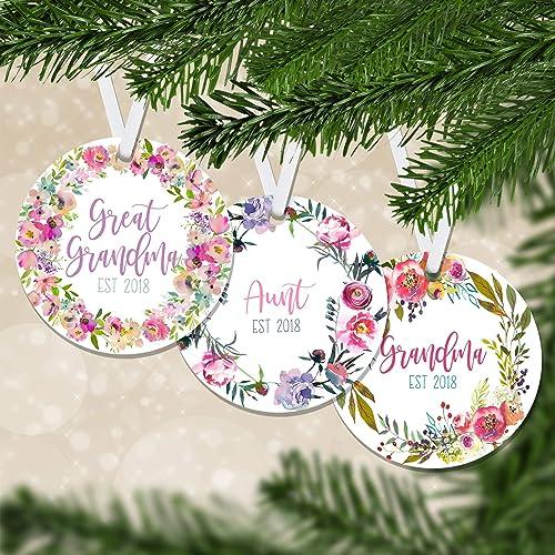 Family Christmas Gift Ideas.Amazon Com Floral Pregnancy Announcement Est Keepsake