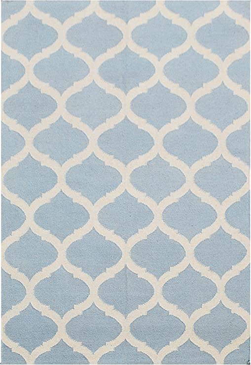 Bakero Alfombras Julia, algodón, Azul Claro, 180 x 120 x 0.8 cm: Amazon.es: Hogar