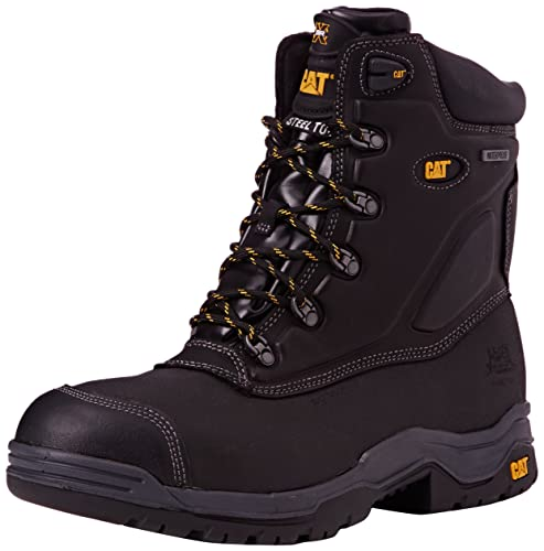 Cat Footwear Supremacy, Calzado de protección de cuero para hombre, Negro, 40