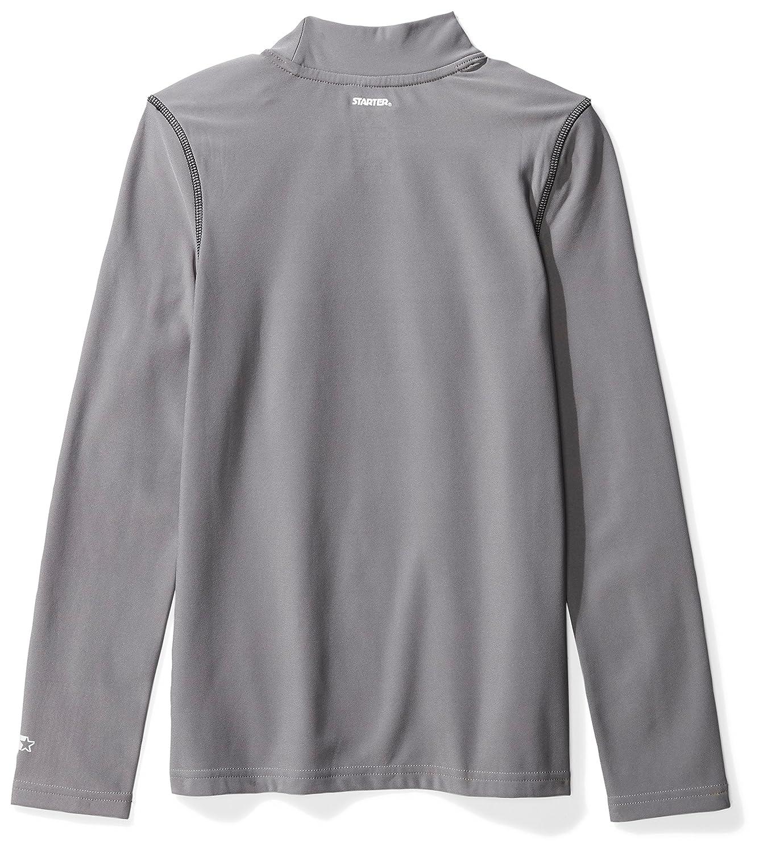 fc0192edd3e0 Amazon.com  Starter Boys  Long Sleeve Mock Neck Athletic Light-Compression  T-Shirt