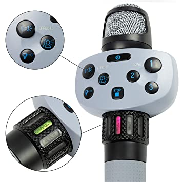 Singing Machine Wired Voice Changer and looping Hype karaoke microphone