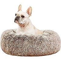heekpek Cama para Mascotas Relajante Lavable Perros y Gatos Mascotas Coj/ín Redondo Suave de Felpa Mascota Cama Resbal/ón Prueba Felpa Gato Dormido Cama Peque/ña Perro Cama de Gatos Suave
