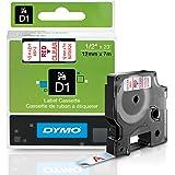 DYMO Standard D1 45012 Labeling Tape (Red Print on Clear Tape, 1/2'' W x 23' L, 1 Cartridge)