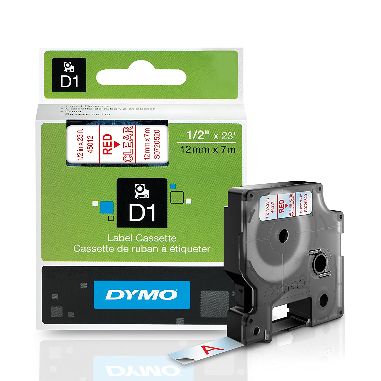 DYMO Standard D1 1933238 Labeling Tape ( Black Print on Neon Tape , 1/2'' W x 10' L , 1 Cartridge) 1/2'' W x 10' L Newell Rubbermaid Office