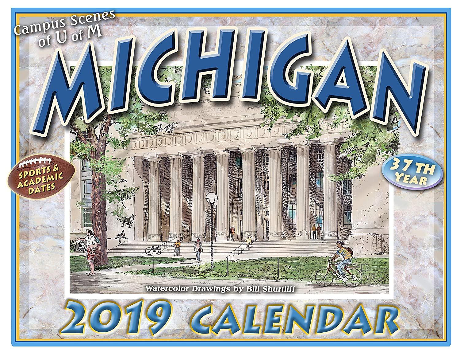University Of Michigan Calendar 2019 Amazon.: University of Michigan 2019 Calendar : Office Products