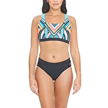 33cf076d529 Zoggs Women's Breeze Muscle 2 Piece Bikini Set: Amazon.co.uk: Sports ...