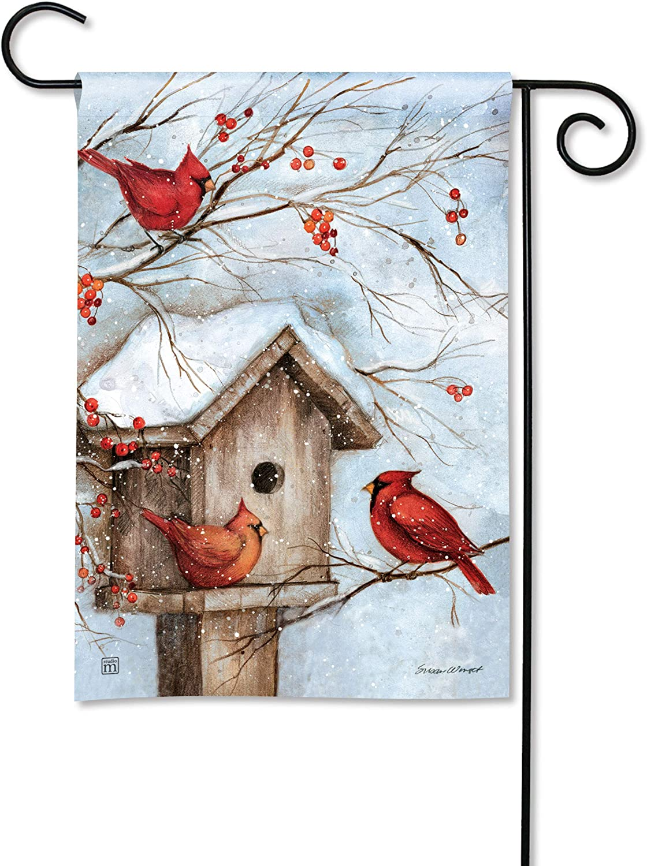 BreezeArt Studio M Winter Haven Fall/Winter Decorative Garden Flag – Premium Quality, 12.5 x 18 Inches