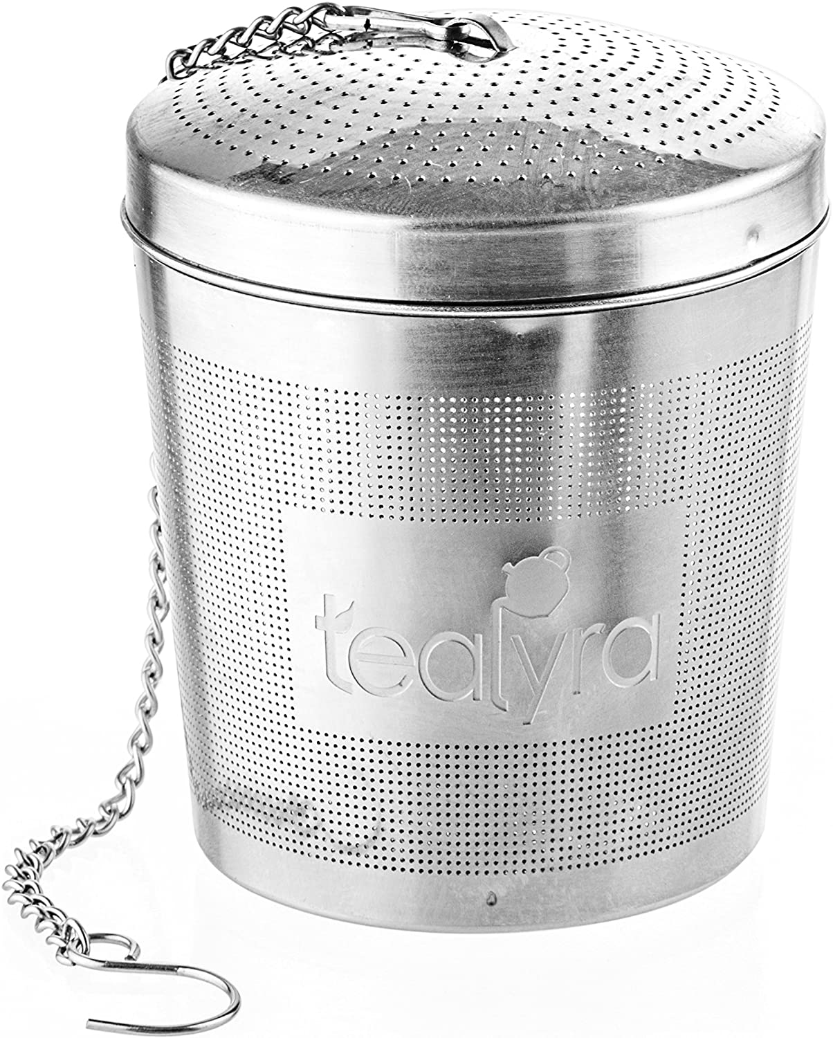 Tealyra - easyTEA - Tea Infuser Ball - Mesh Strainer - Large Capacity and Perfect Size for Hanging in Teapots - Mugs - Cups - To Steep Loose Leaf Tea and Herbs