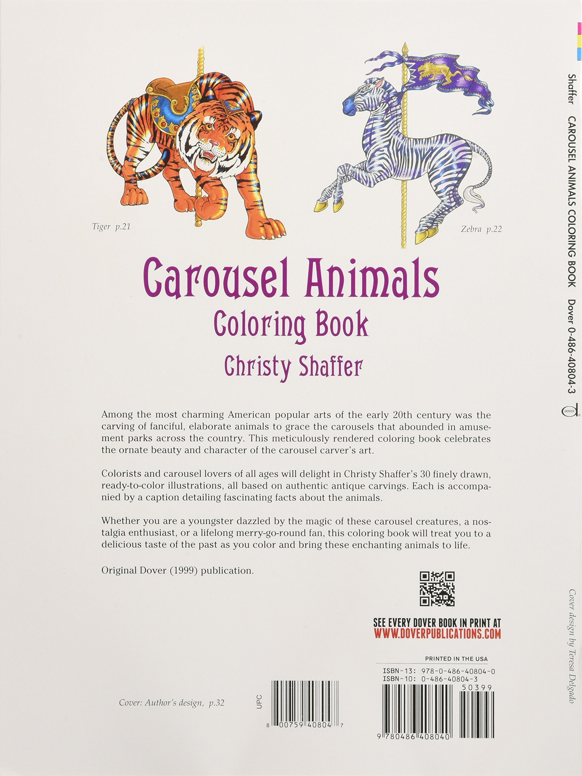Carousel Animals Coloring Book (Dover Coloring Books): Christy ...
