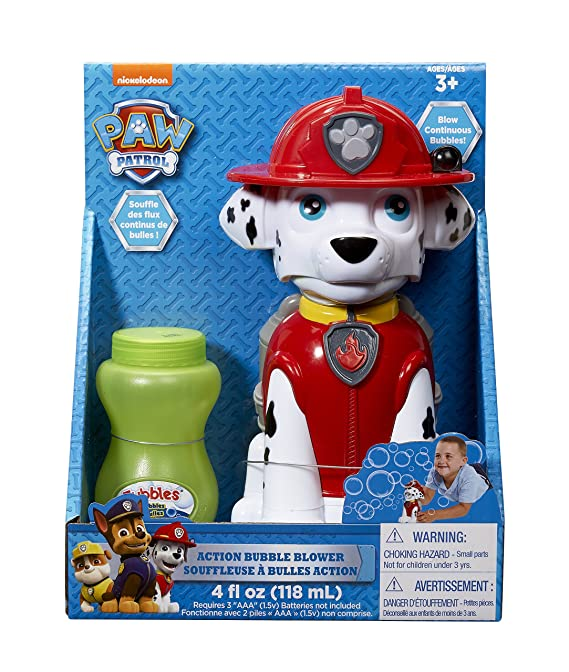 Amazon.com: Little Kids Paw Patrol Marshall Action Bubble Blower: Toys & Games