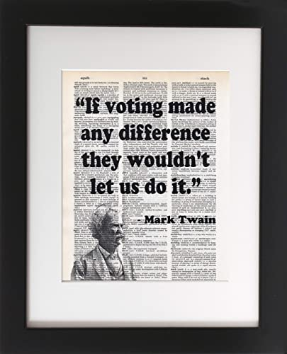 Amazon.com: Mark Twain on Voting - - Upcycled Dictionary Art Print ...
