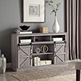 """BELLEZE Parker 52"""" TV Stand Sliding Console for TV's Up to 60"""" Entertainment Center, Gray Wash"""