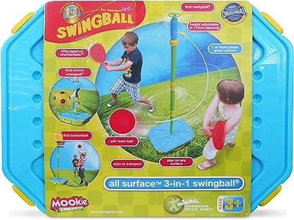 Amazon.com: Mookie Swingball Juego de juego portátil 3 en 1 ...