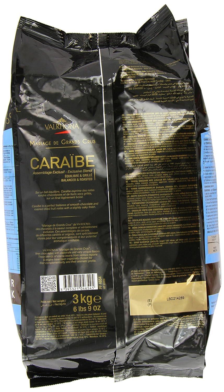Valrhona Dark Chocolate – 66% de cacao – caraibe – 6 libras ...