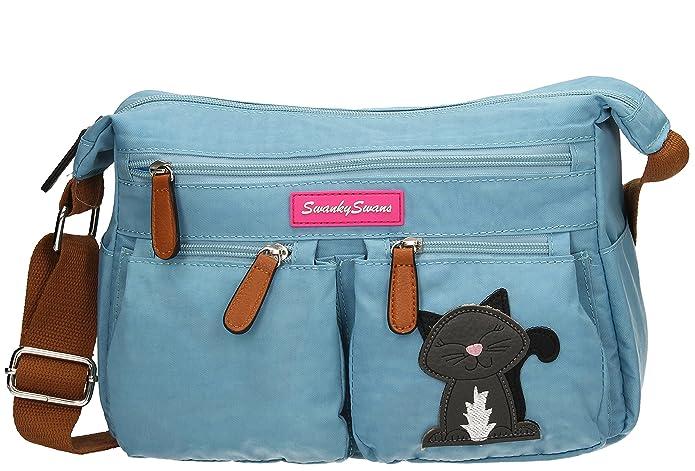 d8809c1a7993 Norma Womens Ladies Multi Pocket Shoulder Day Bag Satchel Bag - SWANKYSWANS