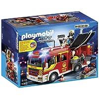 Playmobil - 5363 - Jeu De Construction - Fourgon De Pompiers