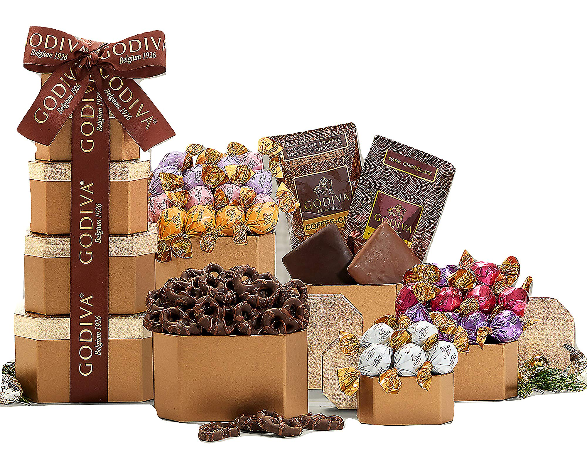 Wine Country Gift Baskets Godiva Milk & Dark Chocolate Tower by Wine Country Gift Baskets