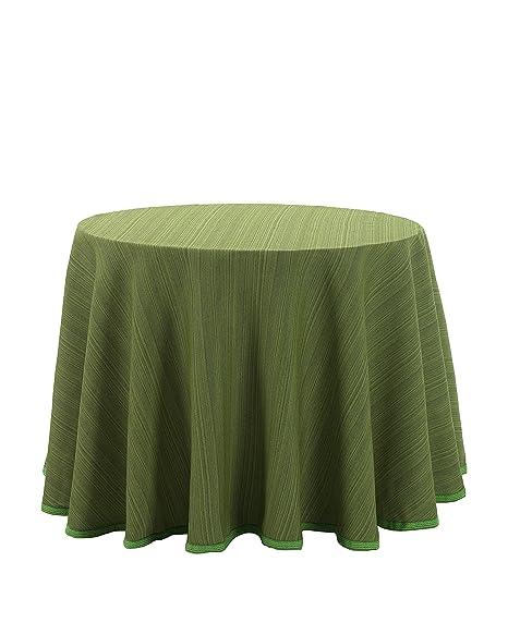 Martina Home Ribero - Falda para mesa camilla , Verde, Redonda de 90
