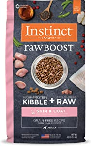 Instinct Raw Boost Natural Dry Dog Food, Grain Free Kibble + Freeze Dried Raw Dog Food with Functional Ingredients