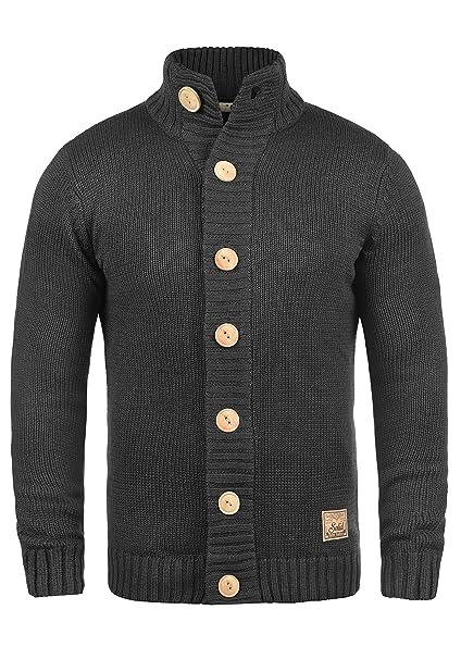 neuer Stil & Luxus Sonderpreis für beliebte Geschäfte !Solid Pete Herren Strickjacke Cardigan Grobstrick Pullover mit Stehkragen
