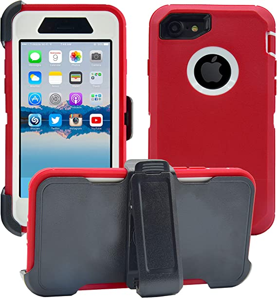 Protective Drop-Proof Shock-Proof Full Body Military Grade Protection with Carrying Belt Clip NOT Plus | 2-in-1 Screen Protector /& Holster Case AlphaCell Cover Compatible with iPhone 6 // 6S