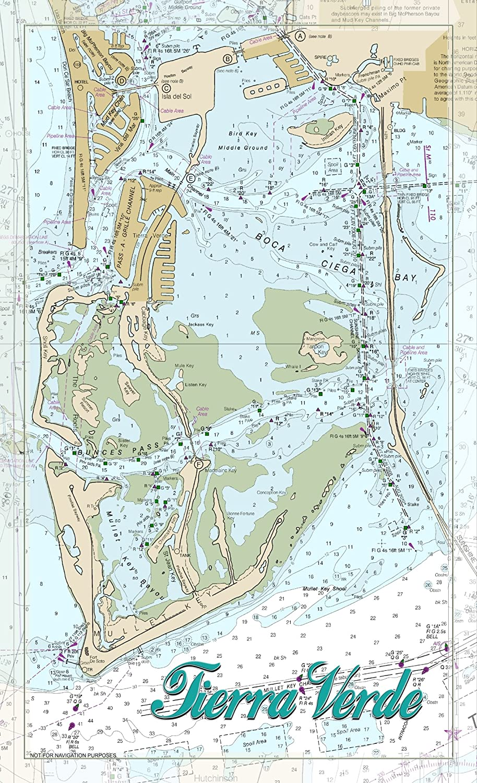 tierra verde florida map Northwest Art Mall Fl 9581 Tierra Verde Florida 11 X17 Print By