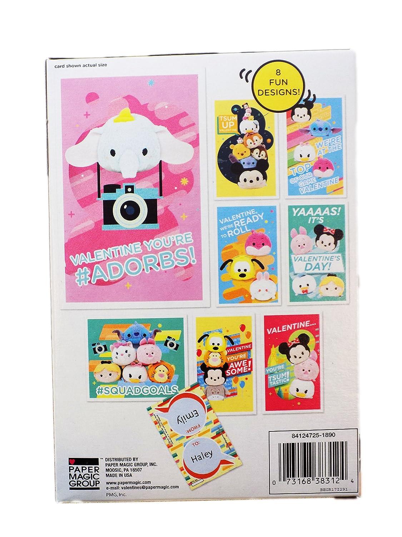 Amazon 32 Disney Tsum Tsum Valentine Day Sharing Cards For Kids