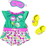 Zapf Creation 822470 - bebés nacidos, pijamas cortos con zuecos multicolor